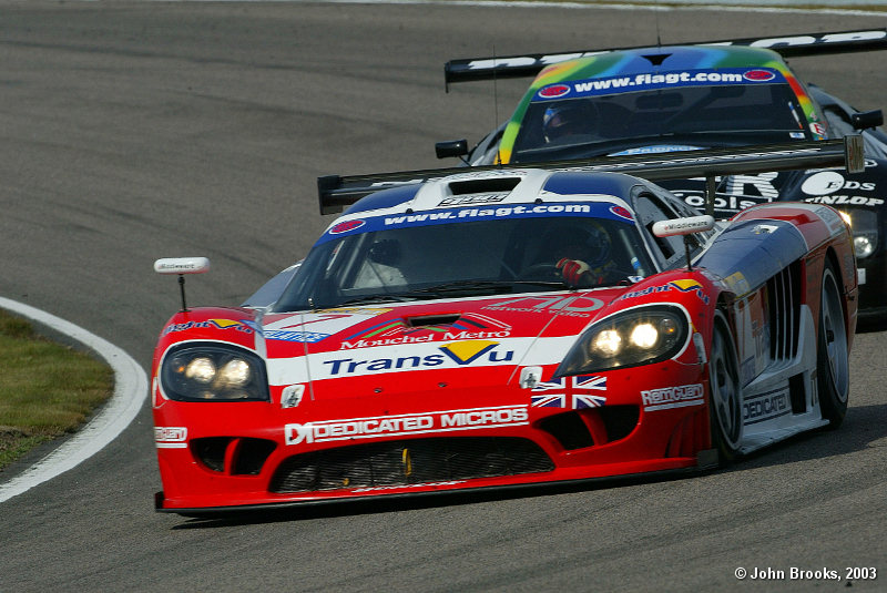 Second place for the first half of the race, Tommy Erdos, Saleen S7R