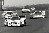 More 956 glory ..... Bellof, Johansson and Schuppan .... Silverstone 83