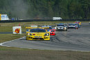 Lap 1. Walter Lechner Jnr leads the pack in the Konrad Saleen S7R