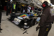 Jamie Campbell Walter brings the Lister Strom LMP in for an early  morning pit stop