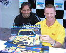 Alex Caffi & Robin Liddell during an autograph session