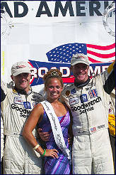 The Midwest farmers' daughters..........KC enjoys the spoils of victory at Road America in 2002