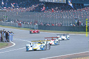 The Audi Squadron head the field with Brabham gamely hanging on